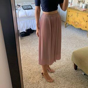 Uniqlo Pleated Midi Skirt Pink